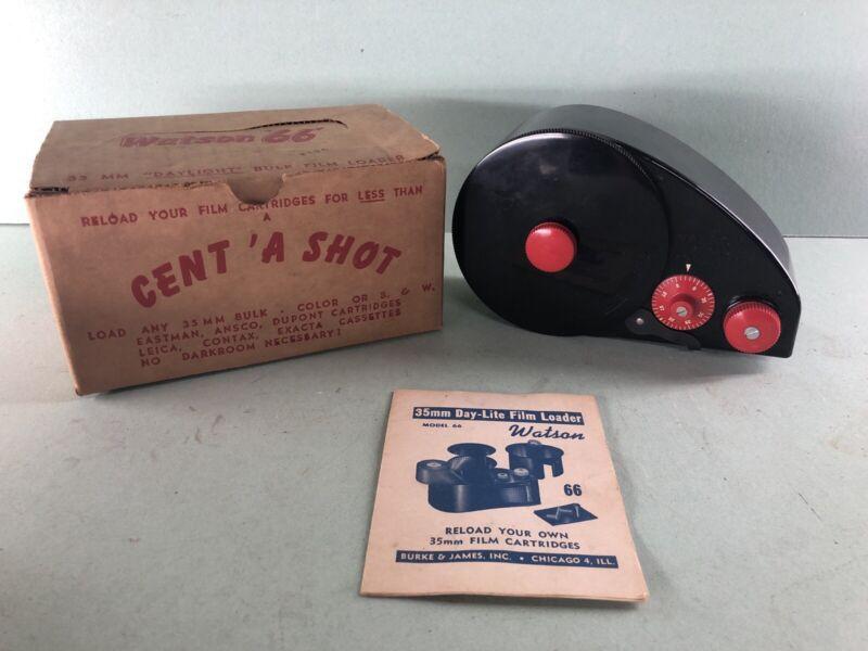 Vtg. Watson 35mm Bulk Film Loader - Model 66C - Penny