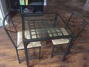 Glass Top Table And Chairs For Sale