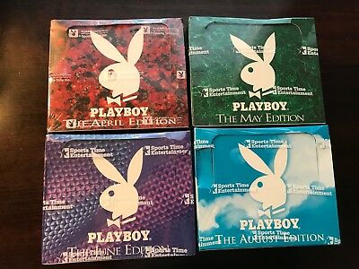 SportsTime Playboy Centerfold Collector Cards April May June August X4 BOX LOT!