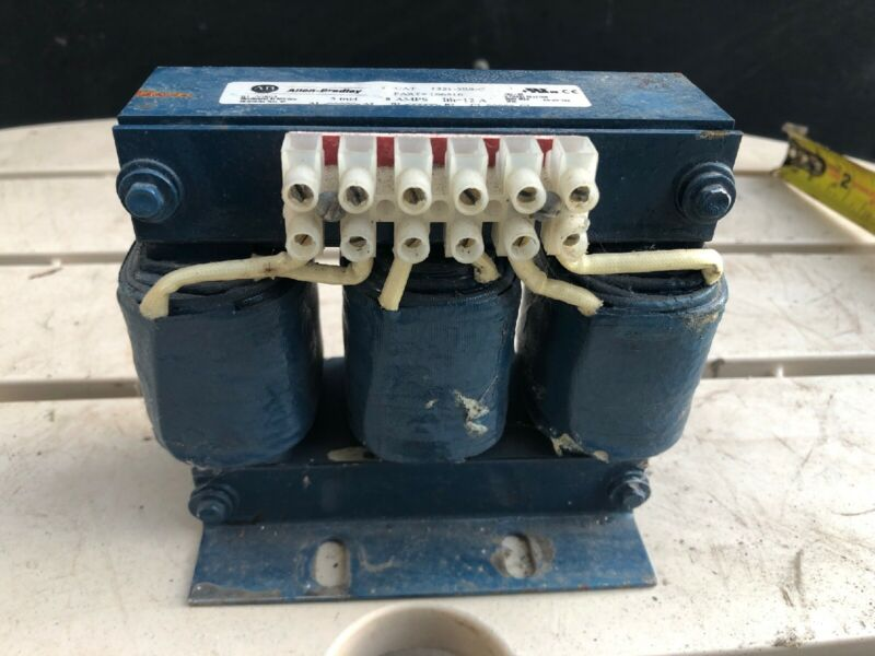 Allen-Bradley 3Ph Line Reactor 1321-3R8-C 5mH 8A Ith=12A 600V 60Hz Used