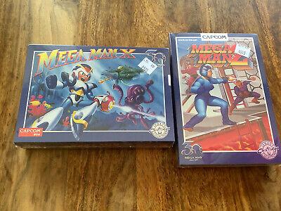 2 Nintendo Mega Man 30th Anniversary Games X & 2 SNES NES...