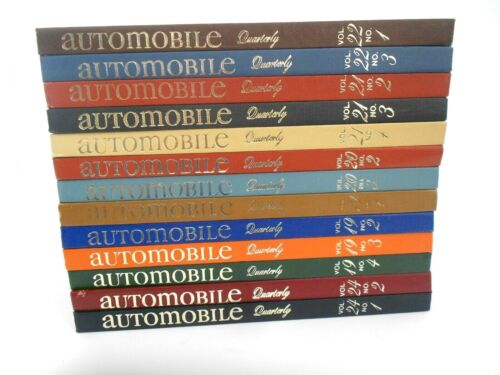 Vintage Automobile Quarterly 13 Books With Some Numbers From Vol 19,20,21,22& 24
