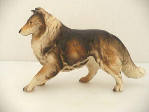 Vintage Collie Dog Figurine Bone China Japan