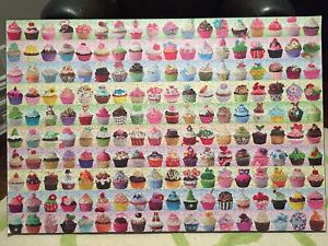 2000 Piece Cupcakes Puzzle Coated on Plak-It Board