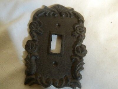 Rustic Cast Iron Ornate French Single Light Switch Outlet Plate Cover  ()
