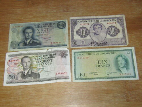 Lot of 4 World Paper Money #2619
