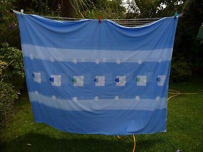 STESTA ATELIER  BLUE WHITE DUVET COVER 160 X 200 CM & 2 LGE SQUARE PILLOW CASES