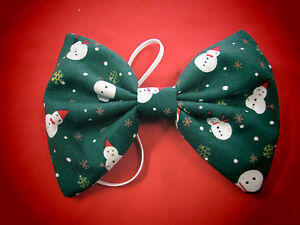 Christmas Bow Ties  Snowman Holly Snowflake Red Green Festive Fancy Dress