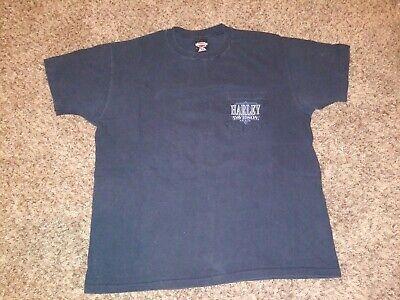 Vintage harley davidson POCKET T Shirt SINGLE STITCH Wisconsin XL USA