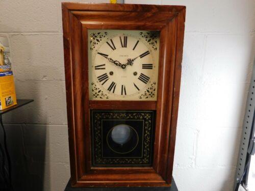 Rare Large Vintage Verichron Wall or Mantel Clock Pendulum Wind Up with Key