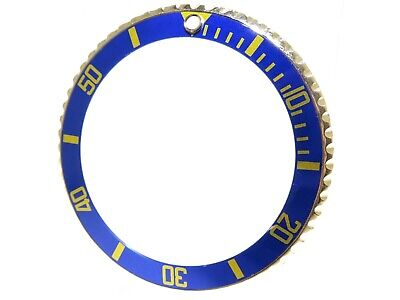 ROLEX VINTAGE SUBMARINER 1680 18KT YELLOW GOLD BEZEL AND BLUE INSERT