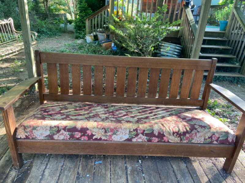JM Young Arts and Crafts Mission Sofa, Rare