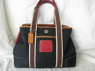 Coach Nylon Shoulder Purse Black A3K-5078
