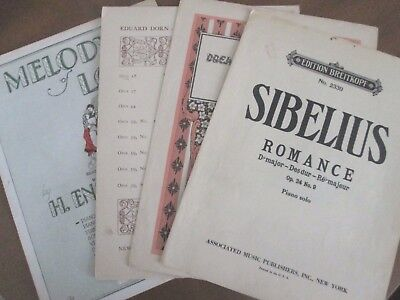 4 vint PIANO SOLO  Labitzky SIBELIUS Eduard Dorn ENGELMANN