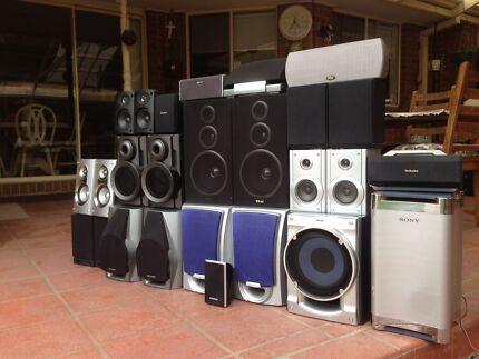 Massive speaker & subwoofer bundle $120 the lot