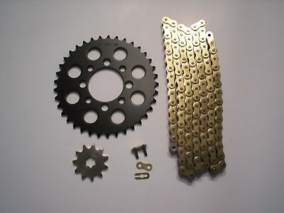 KAWASAKI KLX110 KLX 110 NEW 13/37 SPROCKET & GOLD CHAIN SET 2003 - 2009