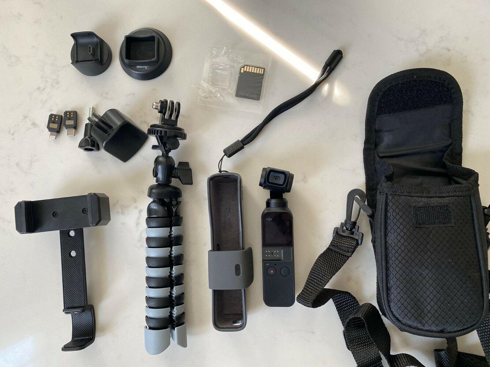DJI Osmo Pocket Camera Everything Included Tripod, Phone Holder, Gopro Adapter. - $340.00