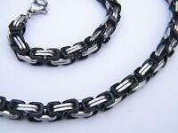 Collar Acero Inoxidable 316l Plata/negro Hombres Bisutería Collar Kh -  - ebay.es