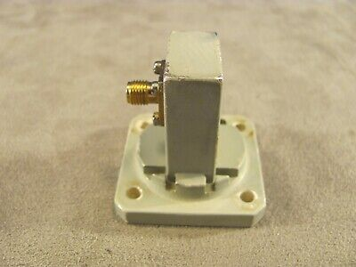 Waveguide 10 To 15 Ghz Ku-band Adapter Wr75 To Sma Transition Cover Groove 364