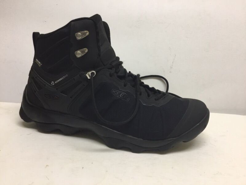 """Keen Dry """"Venture"""" Black Konnectfit Mid Shaft Hiking Boots Size 10."""