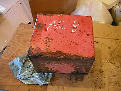 Allis Chalmers B C Tractor Ac Original Battery Box