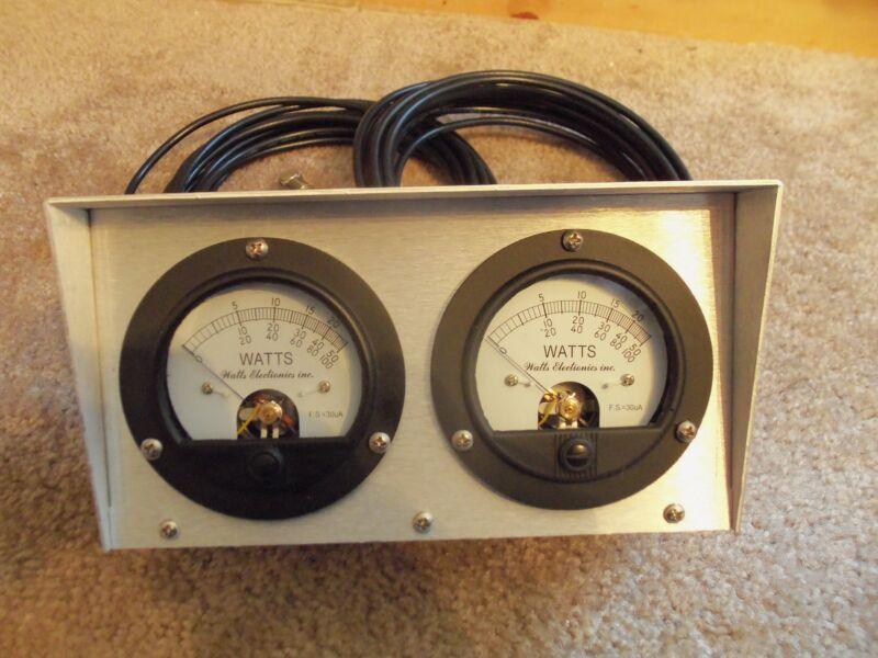 Bird 43 Thruline Watt Meter Dual Meter / RMS / New Silver