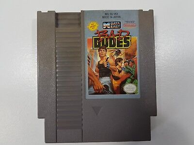 Bad Dudes    Nintendo Nes  Cleaned  Tested  Authentic  Game Only