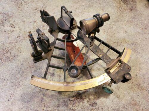 Antique Nautical Maritime Brass SEXTANT by C. Plath Hamburg Germany