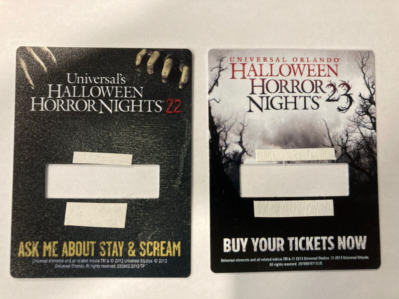 Universal Orlando Halloween Horror Nights HHN 22 & 23 Employee Name Tag Add-On