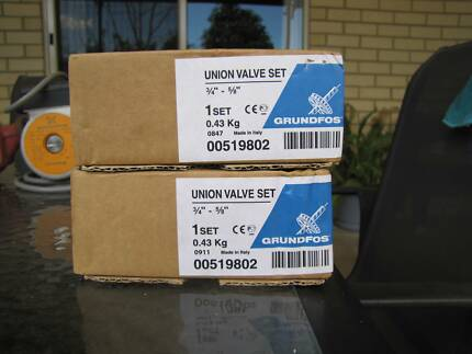 2 x Grundfos Union Valve Sets