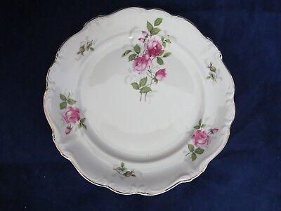 """Vintage Rosenthal Pompadour Courtship Bread & Butter (s) Pink Roses Gold 6 1/4"""""""