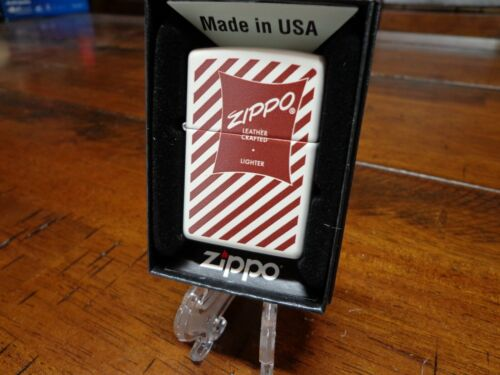1952-1960 ZIPPO LEATHER CRAFTED BOX DESIGN ZIPPO LIGHTER MINT IN BOX
