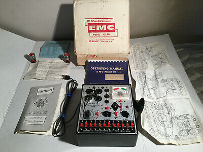 Emc Model 215 Tube Transistor Tester Woriginal Box Manual Training Schem