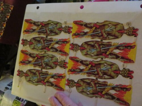 German satan Krampus devil diecuts