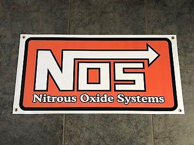 NOS Nitrous Oxide Systems banner sign NO2 shop wall garage JDM bottle fogger nx ()