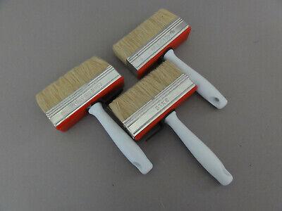 3 Stück 120 mm Deckenbürste Pinsel Flächenstreicher Flachpinsel Lasurbürste