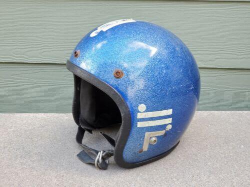 Vintage Motorcycle Helmet, Safetech Pro, 5/75, Medium.