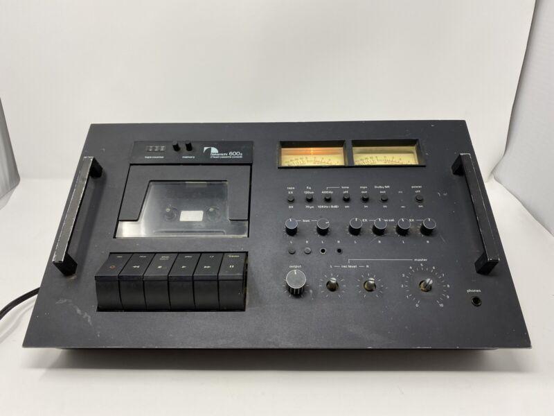 Vintage Nakamichi 600 2 Head Cassette Deck