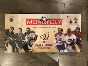 Vintage 1909 collectable Montreal canadiens monopoly .