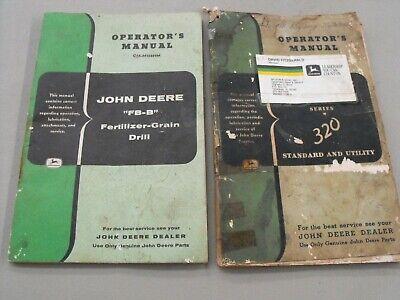 John Deere 320 Standardutility Fb-b Fertilizer-grain Drill Original Manuals