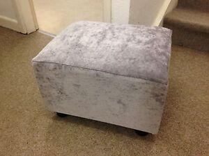 Velvet Footstool Ebay