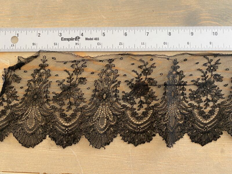 Antique Civil War Era Handmade Lace 1800s Victorian Trim