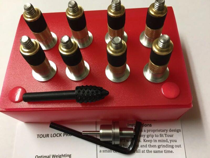 Tour Lock Pro 8pc-Counter Balance Wt.(SILVER-20g)Iron set/Wedge w/Tools/Manual