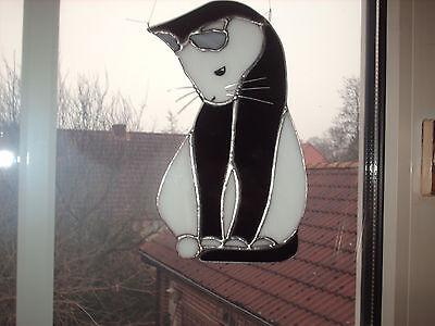 """TIFF. -  Fensterbild Katze,  """"Handarbeit"""" edel"""