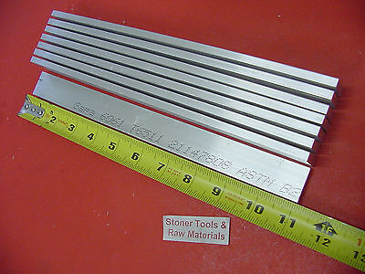8 Pieces 14 X 1 Aluminum 6061 T6511 Solid Flat Bar 11 Long .250 Mill Stock