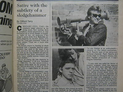 January  18  1987  Chicago  Tribune  Tv  Week  David  Rasche Sledge  Hammer
