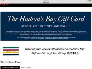 Wanted - The Bay Gift Cards