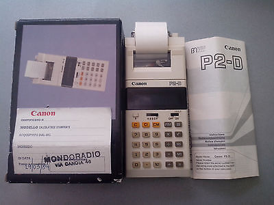 Very Rare Vintage Printing Calculator Canon P-2D with Original Box and Manual