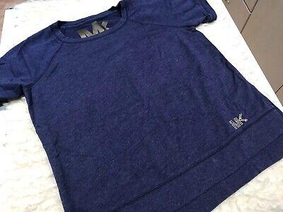 Michael Kors Women T-Shirt Sz. M  Bling Logo Summer Top EUC