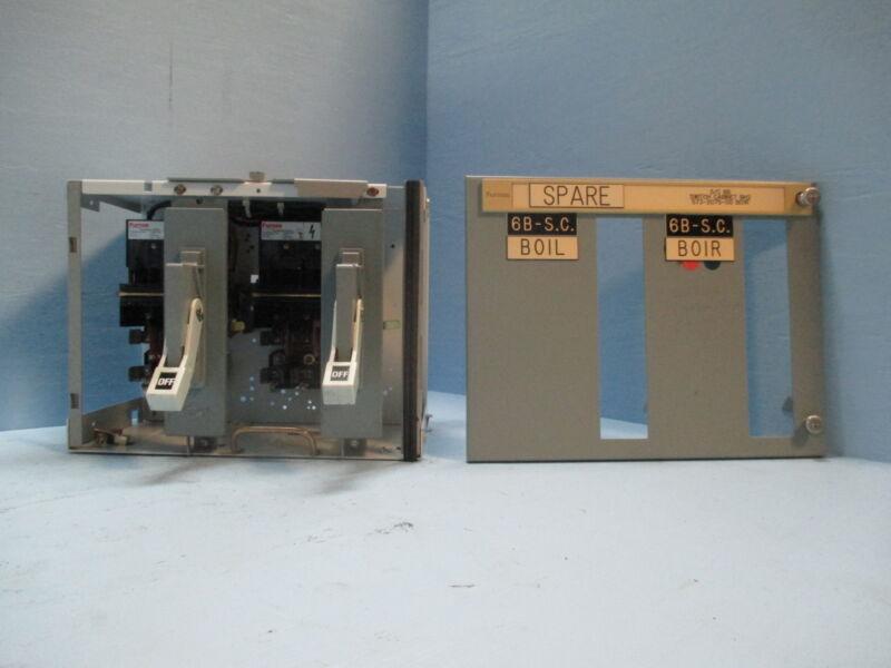 "Siemens Tiastar Furnas 89 60 Amp Fused Dual Feeder 12"" MCC MCCB Bucket 60A"
